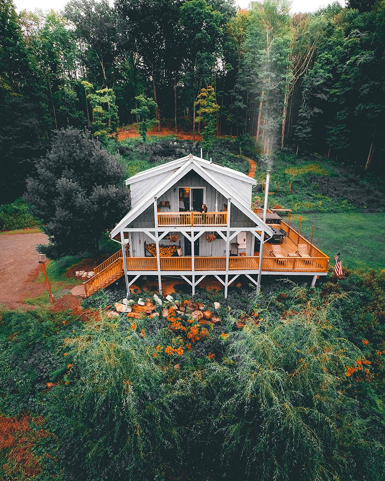 Modern Rustic Cabin in the Woods | The Ulster County Film Office